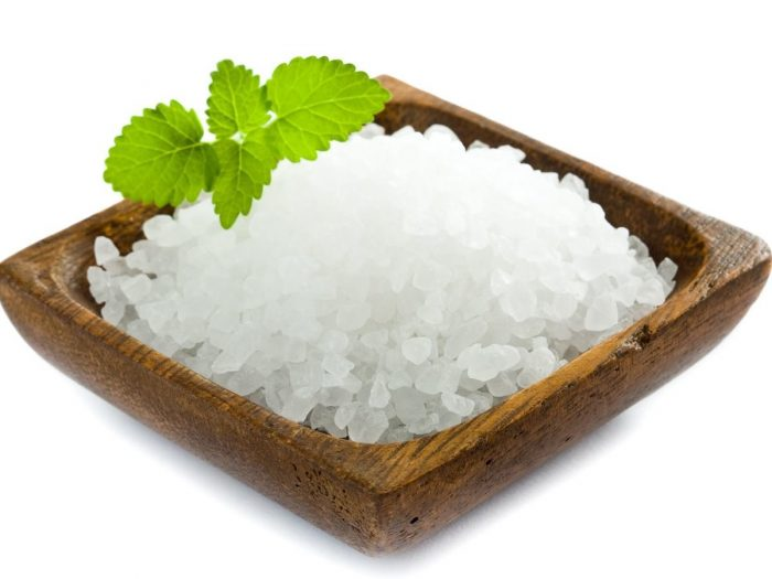 Sea salt rich in sodium