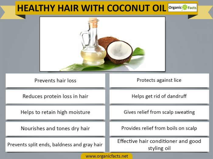 Coconut Oil For Hair Organic Facts