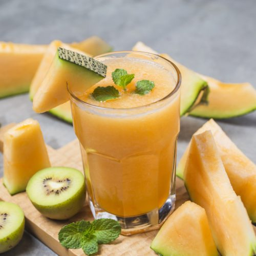 Cantaloupe Juice Easy Recipe And Benefits Organic Facts It's probably 'cause you love cantaloupe. cantaloupe juice easy recipe and