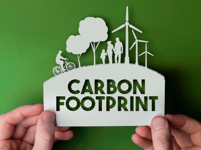 Carbon footprint cut out