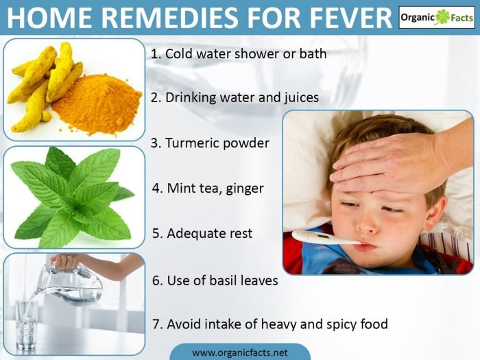 8 Surprising Home Remedies For Fever Organic Facts