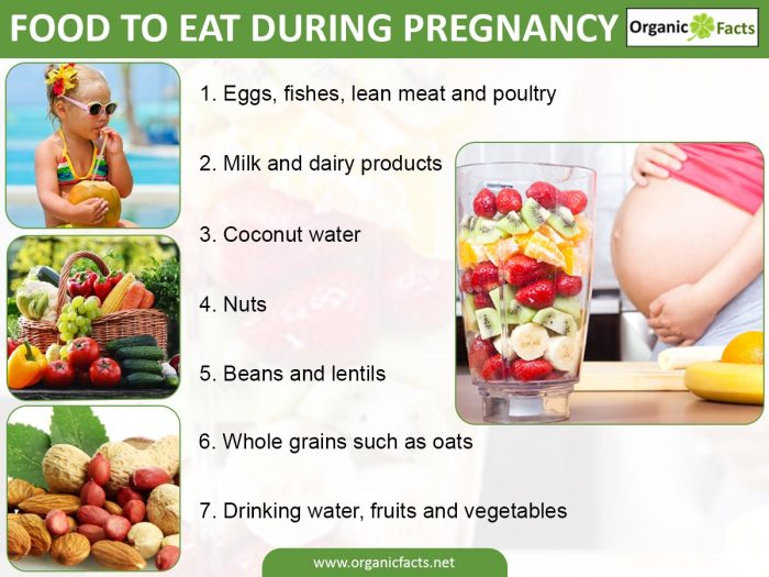 Foods to eat during pregnancy infographic