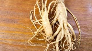 Ginseng on a table