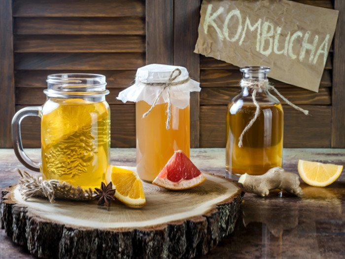 kombucha tea with SCOBY