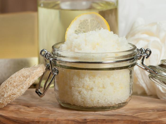 A jar full of home made scrub
