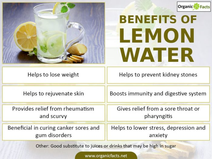 17 best benefits of lemon water organic facts