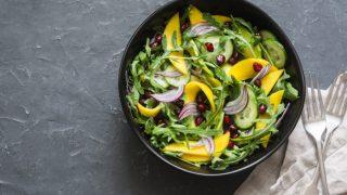 Tasty Mango Salad With Lime Dressing