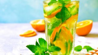 Orange Lemonade With Mint & Ginger Recipe