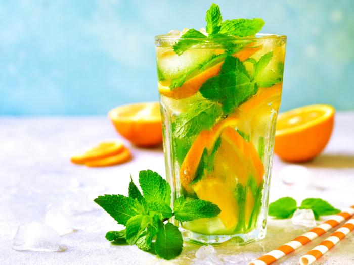 Orange lemonade provides the extra dose of Vitamin C and antioxidants