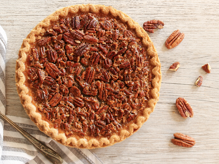 Overhead view of Pecan Pie