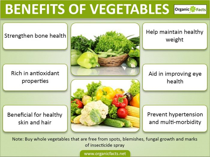 benefits of vegetables  organic facts vegetableinfo