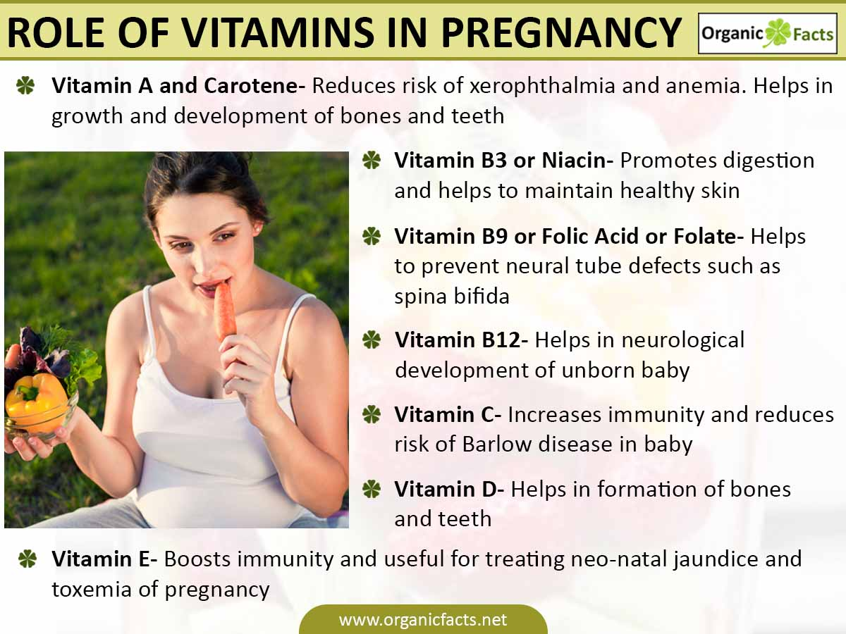 vitamins for pregnancy infographic