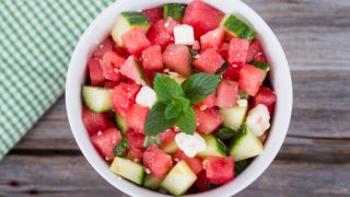 A Step by Step Guide to Make Watermelon and Cucumber Salad