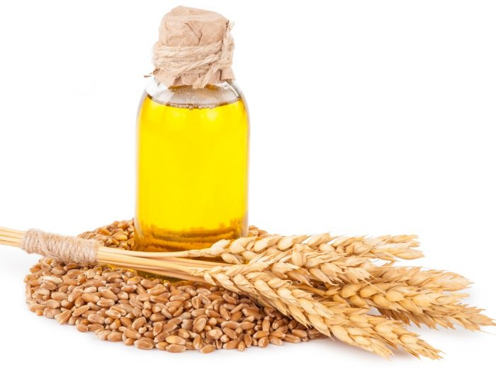 Wheat germ oil skin